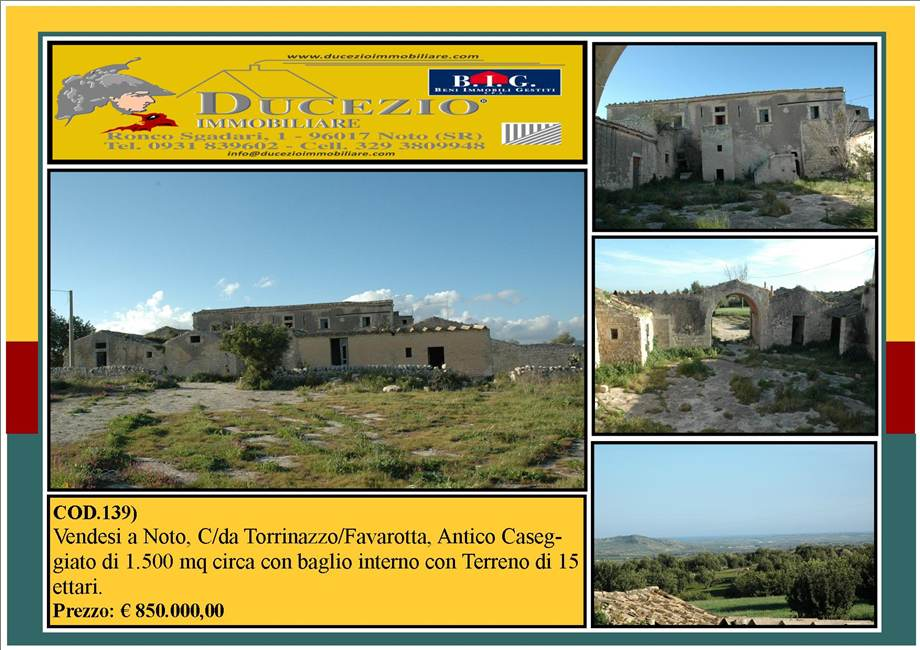 For sale Land Noto  #139 n.1
