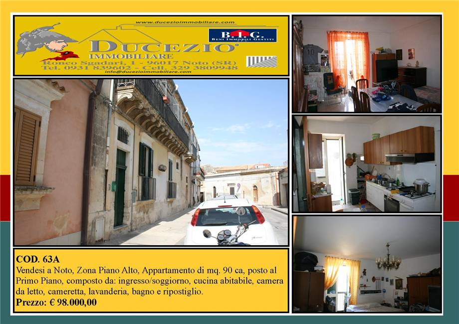 For sale Flat Noto  #63A n.1