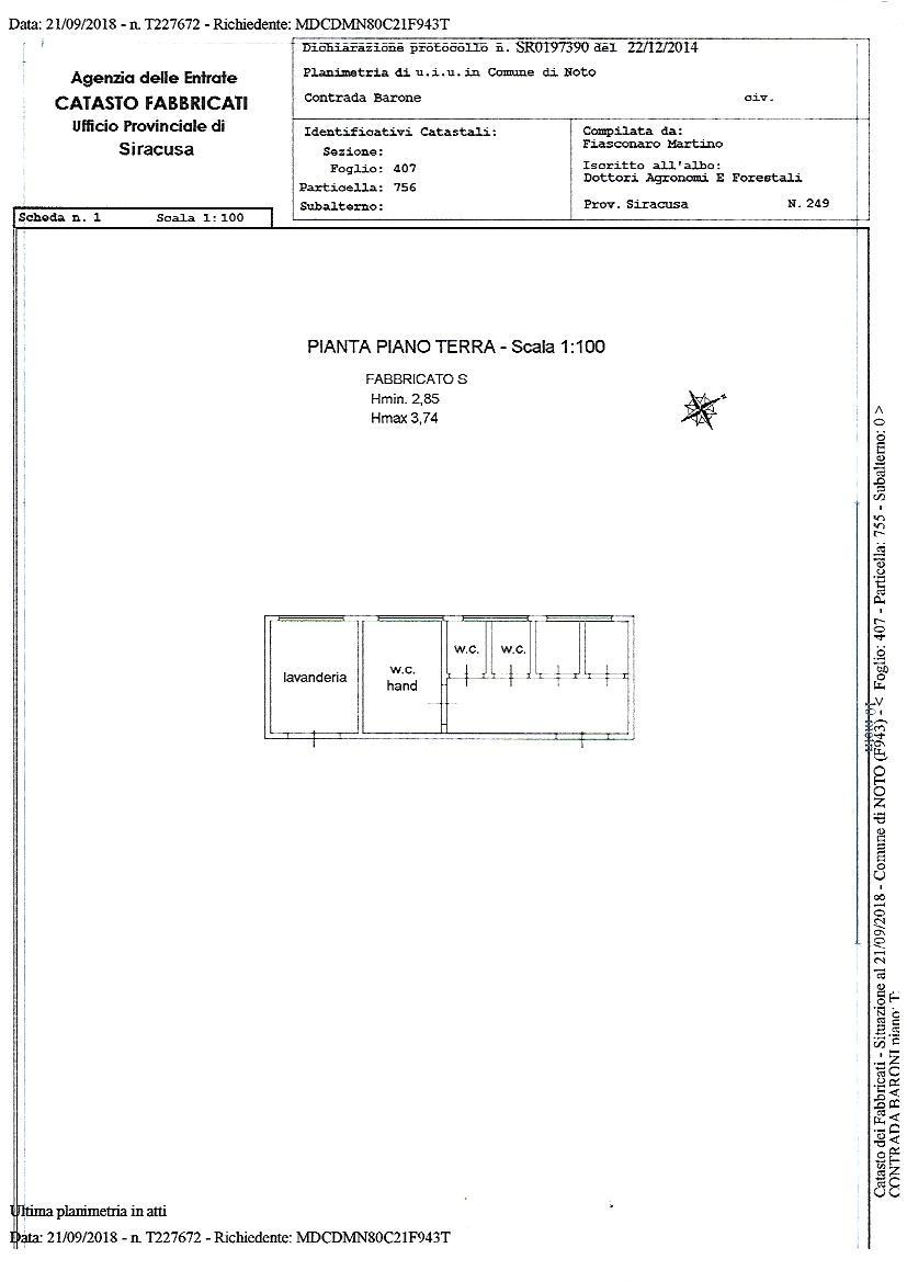 Verkauf Villa/Einzelhaus Noto  #1T n.12