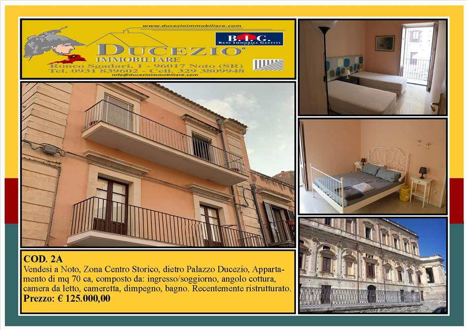 For sale Flat Noto  #2A n.1