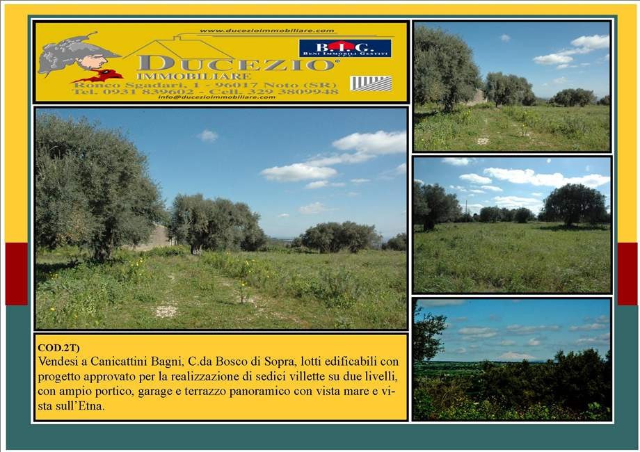For sale Land Canicattini Bagni C/DA BOSCO DI SOPRA #2T n.1