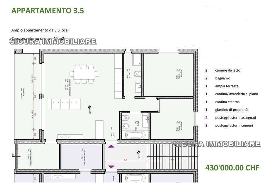 Vendita Appartamento Cama Cama GR #GR3 n.3